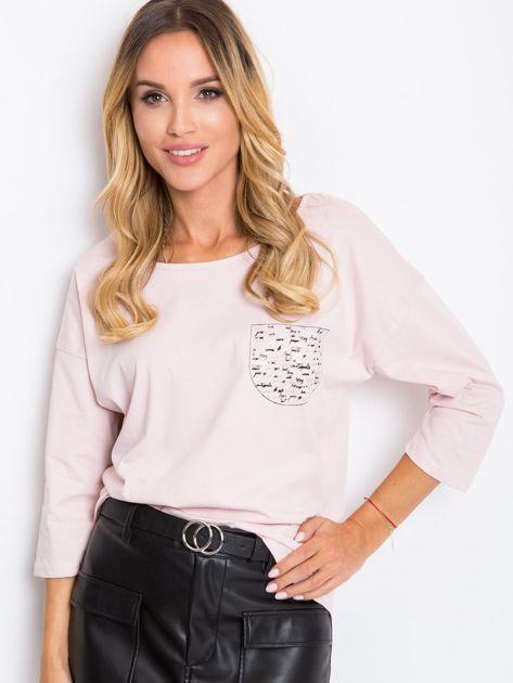 Jasnoróżowa bluzka Amy