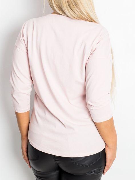Jasnoróżowa bluzka plus size Touchy                              zdj.                              2