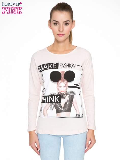 Jasnoróżowa bluzka w stylu fashion                                  zdj.                                  1