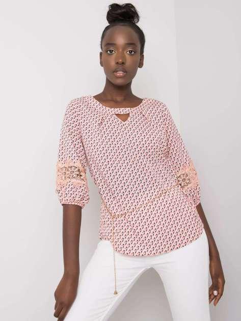 Jasnoróżowa bluzka we wzory Jazmin