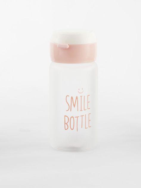 Jasnoróżowa ekologiczna butelka bidon z napisem                              zdj.                              4