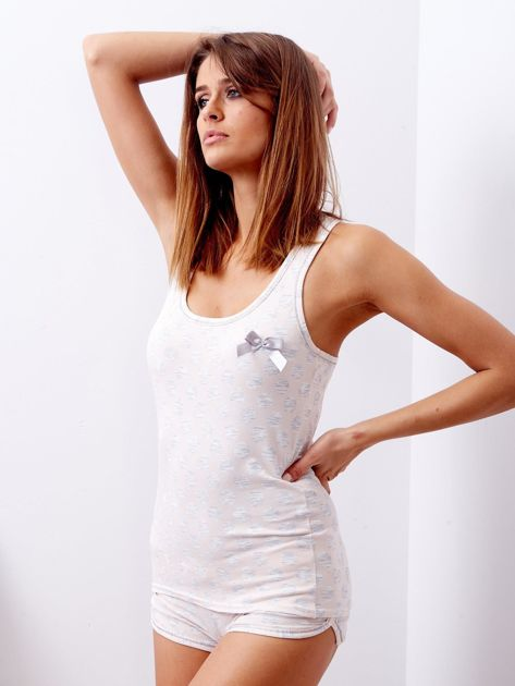 Jasnoróżowa piżama w grochy                              zdj.                              3