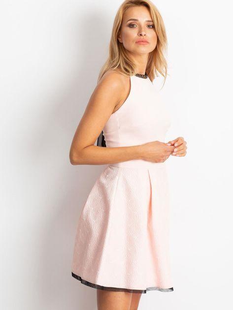 Jasnoróżowa sukienka Kim                              zdj.                              3