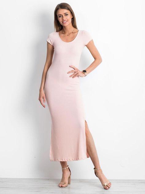 Jasnoróżowa sukienka Touching                              zdj.                              1