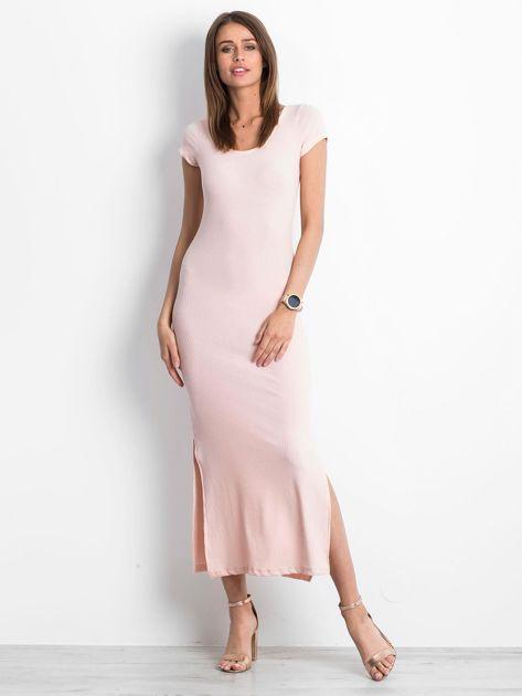 Jasnoróżowa sukienka Touching                              zdj.                              4