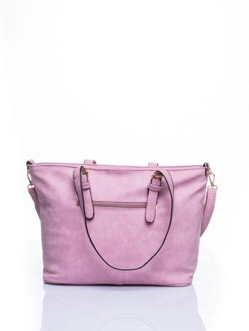 Jasnoróżowa torba shopper bag z zawieszką                                  zdj.                                  3