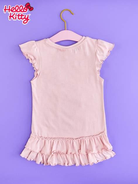 Jasnoróżowa tunika dla dziewczynki z falbankami HELLO KITTY                                   zdj.                                  2