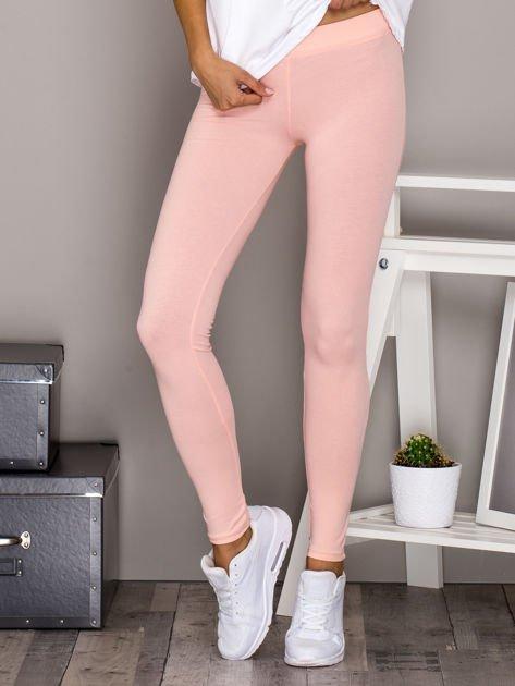 Jasnoróżowe legginsy basic                              zdj.                              1
