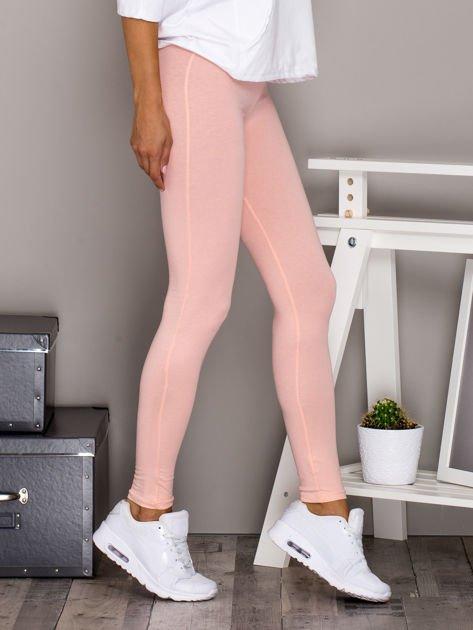 Jasnoróżowe legginsy basic                              zdj.                              3