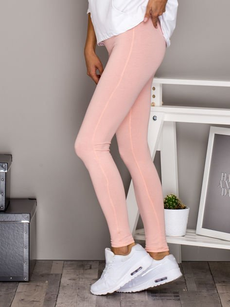 Jasnoróżowe legginsy basic                              zdj.                              5