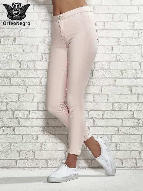 Jasnoróżowe spodnie rurki skinny                                  zdj.                                  1