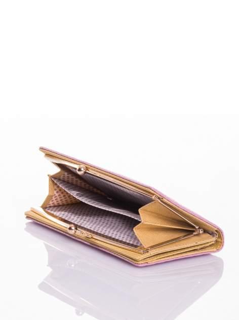 Jasnoróżowy elegancki portfel na bigiel                                  zdj.                                  4