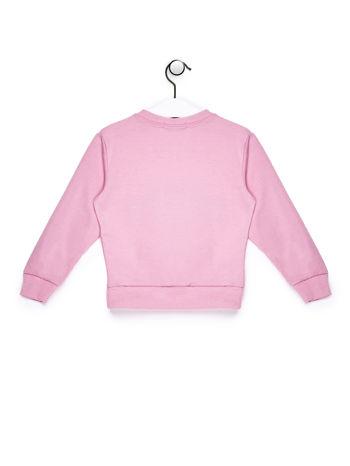 Jasnoróżowy komplet dla dziewczynki bluza i spodnie dresowe                              zdj.                              3