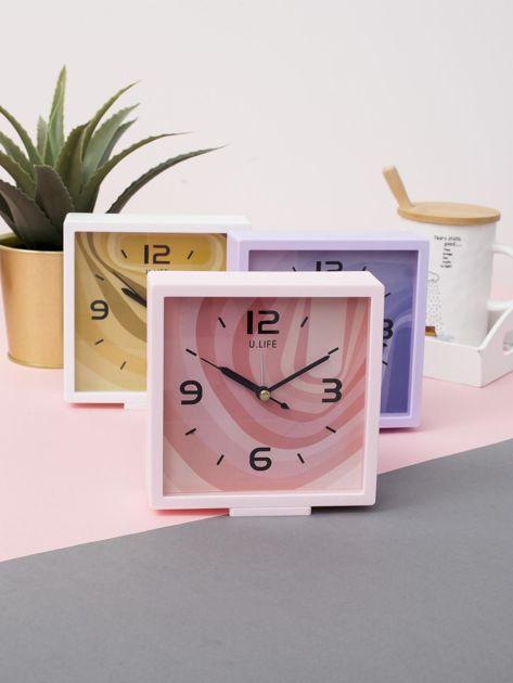 Jasnoróżowy kwadratowy zegarek                              zdj.                              3