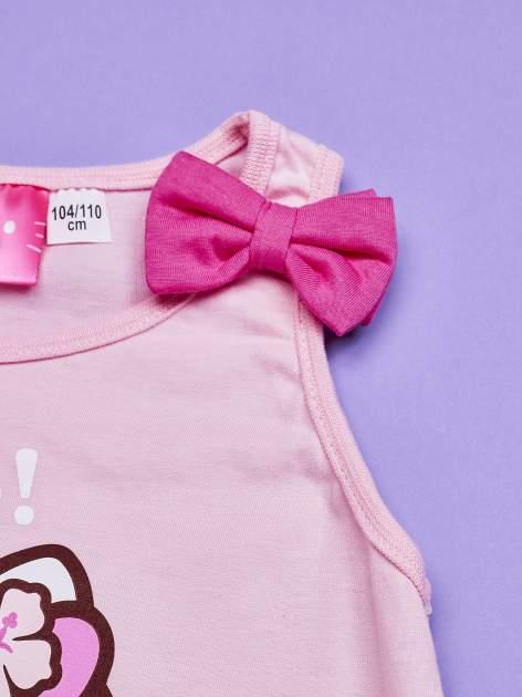 Jasnoróżowy t-shirt dla dziewczynki bez rękawów HELLO KITTY                                  zdj.                                  3