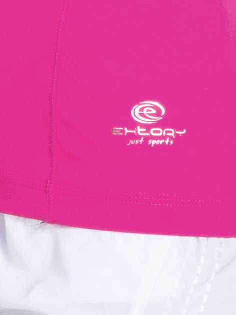 Jasnoróżowy t-shirt sportowy basic                                  zdj.                                  4