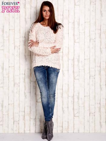 Jasnoróżowy włochaty sweter                                  zdj.                                  2