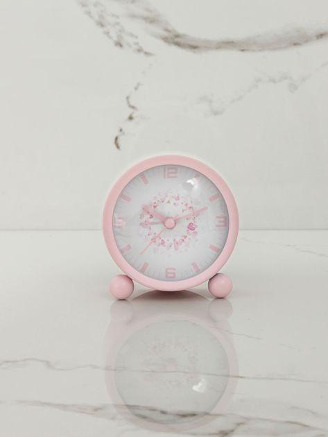 Jasnoróżowy zegarek stołowy                              zdj.                              6