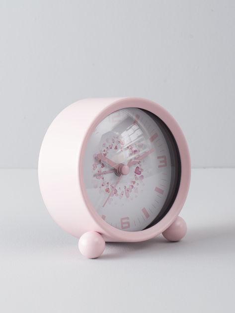 Jasnoróżowy zegarek stołowy                              zdj.                              2