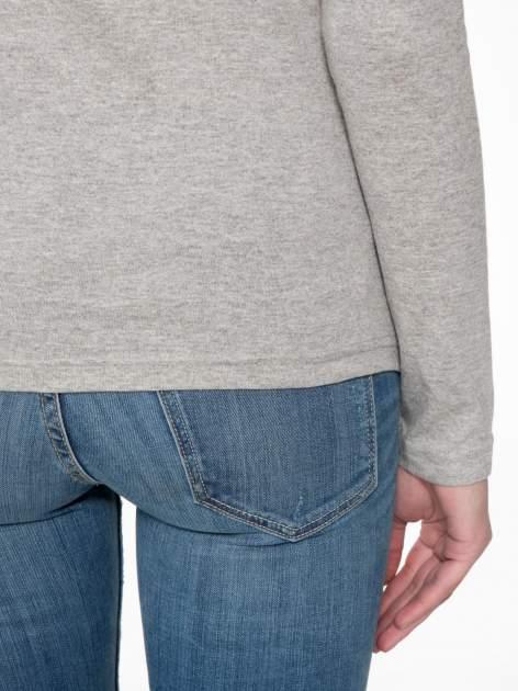 Jasnoszara bawełniana bluzka typu basic z długim rękawem                                  zdj.                                  8