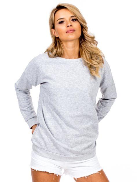 Jasnoszara bluza basic                              zdj.                              1