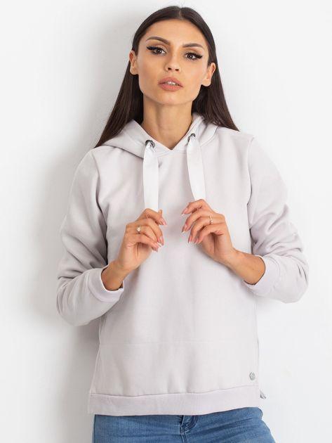 Jasnoszara bluza z koszulą                              zdj.                              1