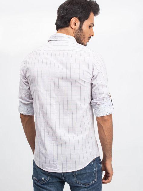 Jasnoszara koszula męska Messenger                              zdj.                              2