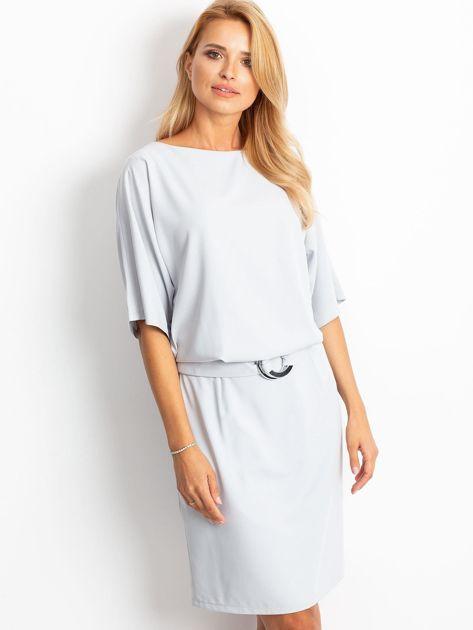 Jasnoszara sukienka Soft                              zdj.                              3