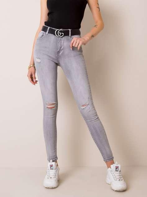 Jasnoszare jeansy Jinx