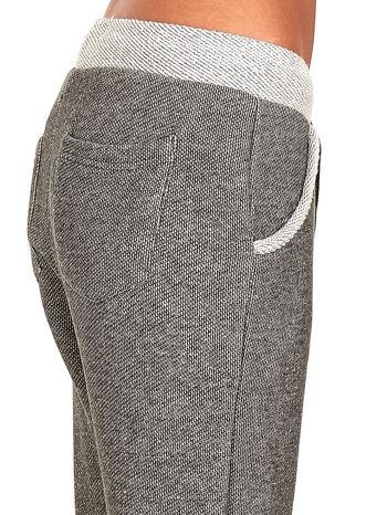Jasnoszare melanżowe spodnie dresowe w stylu casual                                  zdj.                                  8