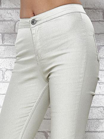 Jasnoszare spodnie rurki skinny                                  zdj.                                  5