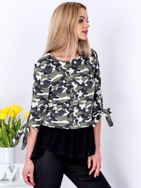 Jasnozielona bluzka moro z koszulą                              zdj.                              3