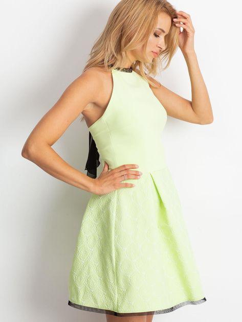 Jasnozielona sukienka Kim                              zdj.                              3