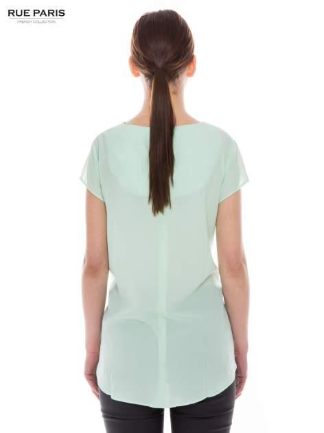 Jasnozielona zwiewna bluzka                              zdj.                              2