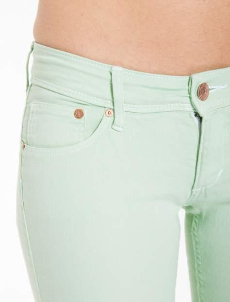 Jasnozielone spodnie jeansowe typu rurki                                  zdj.                                  6