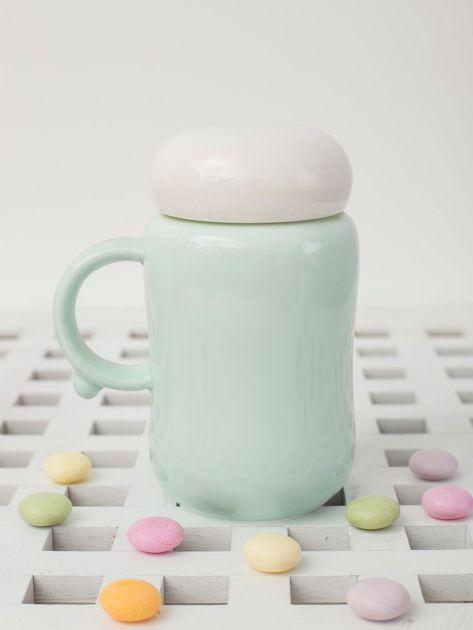 Jasnozielony ceramiczny kubek zamykany                              zdj.                              4