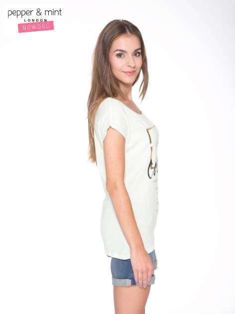 Jasnozielony t-shirt z nadrukiem UNTITLED COLLECTION                                  zdj.                                  3