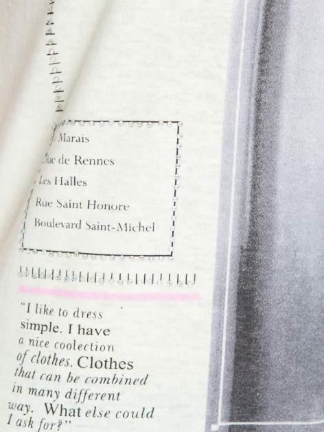 Jasnozielony  t-shirt z nadrukiem fashion                                  zdj.                                  7