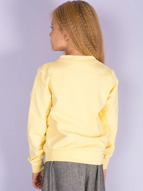 Jasnożółta bluza młodzieżowa                              zdj.                              5