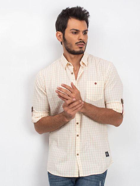 Jasnożółta koszula męska Concrete                              zdj.                              1