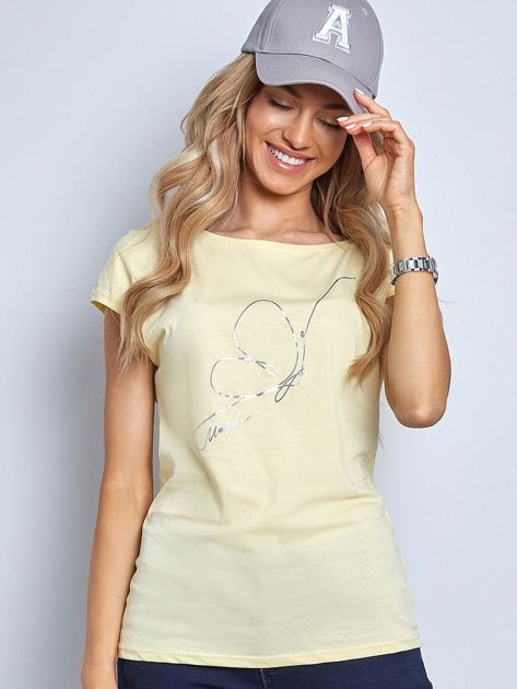 Jasnożółta koszulka Melodious