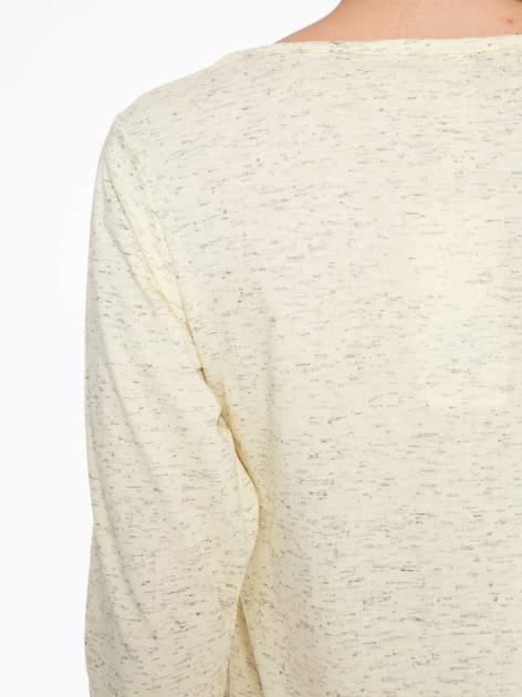 Jasnożółta melanżowa bluzka z rękawami 3/4                                  zdj.                                  7