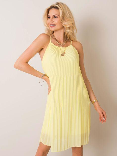 Jasnożółta sukienka Letitia SUBLEVEL