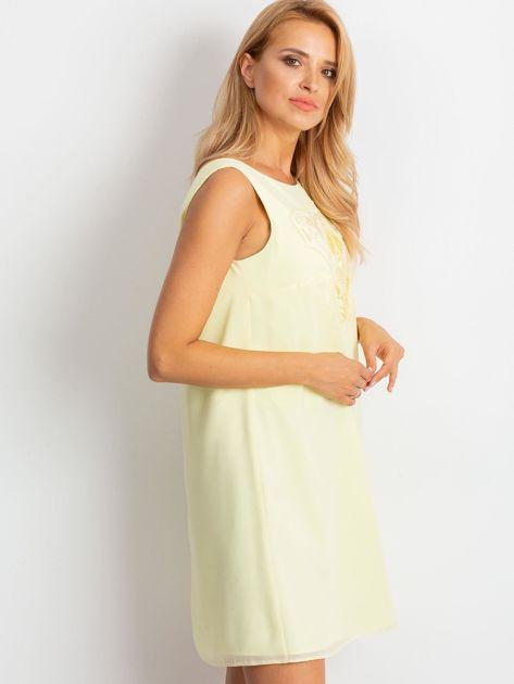 Jasnożółta sukienka Secret                              zdj.                              3