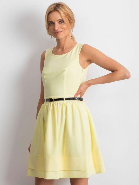 Jasnożółta sukienka Successful