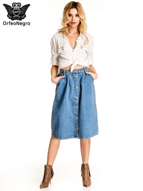 Jeansowa spódnica z guzikami w stylu vintage                                  zdj.                                  5