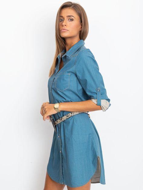 Jeansowa sukienka damska                              zdj.                              3