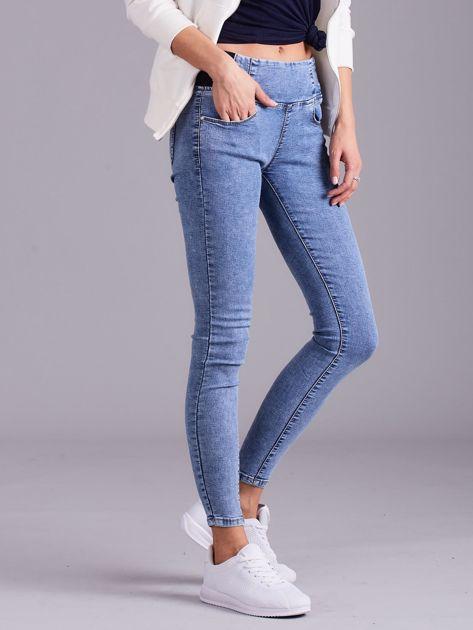 Jegginsy high waist niebieskie                              zdj.                              3