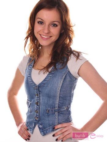 Kamizelka jeansowa                                  zdj.                                  2