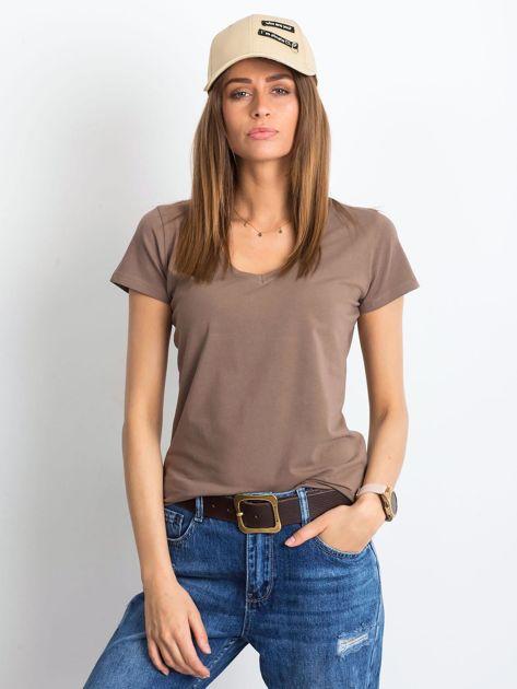 Kawowy t-shirt Square